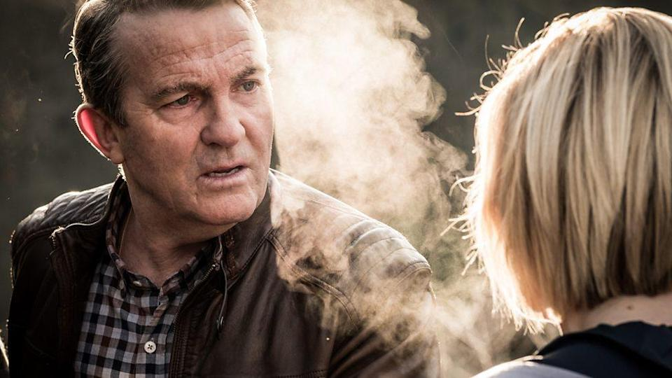 Bradley Walsh and Jodie Whittaker in Doctor Who: It Takes You Away (BBC)