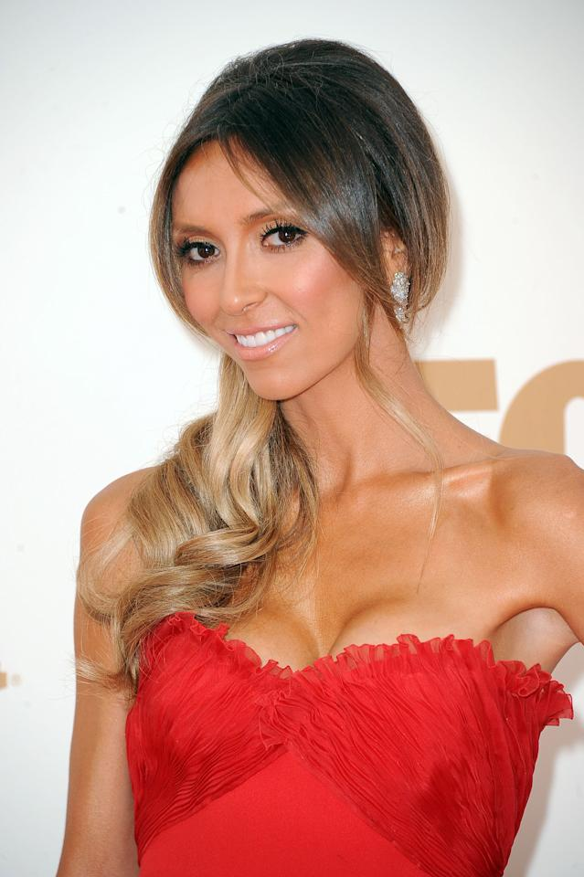 LOS ANGELES, CA - SEPTEMBER 18:  TV personality Giuliana Rancic arrives at the 63rd Annual Primetime Emmy Awards held at Nokia Theatre L.A. LIVE on September 18, 2011 in Los Angeles, California.  (Photo by Frazer Harrison/Getty Images)
