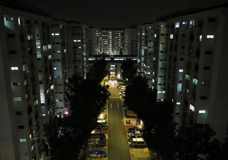 Blocks of public housing flats are pictured in Yishun, Singapore