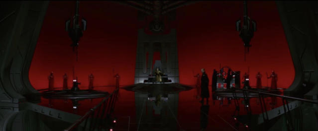 Snoke's throne room. (Photo: Lucasfilm)