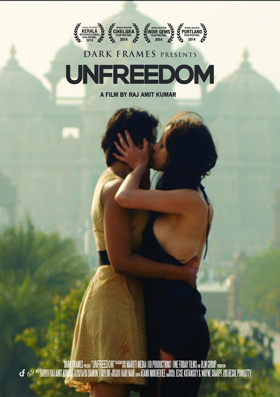 """<p>Despite her father's efforts to force her into an arranged marriage, this flick tells the story of a woman who kidnaps her bisexual lover in an attempt to be together.</p> <p><a href=""""https://www.netflix.com/title/80041337"""" class=""""link rapid-noclick-resp"""" rel=""""nofollow noopener"""" target=""""_blank"""" data-ylk=""""slk:Watch Unfreedom on Netflix now"""">Watch <b>Unfreedom</b> on Netflix now</a>.</p>"""