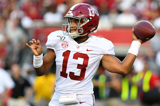 Alabama QB Tua Tagovailoa's poise in 2019 has been impressive to watch after some unnecessary risk taking last season. (Getty Images)