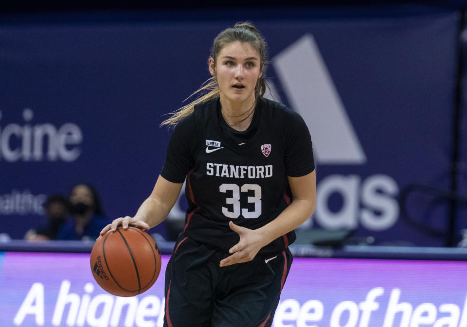 Cheshire-born basketballer Hannah Jump is the first British woman to win a National Collegiate Athletic Association (NCAA) basketball championship © Stanford Athletics