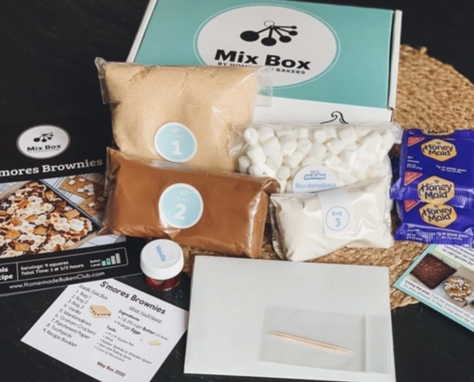 """<p>Amateur home bakers can feel like they're learning something with Mix Box, a curated baking box that comes with all the ingredients, a recipe list, and labels so you get your treat right.</p><p><a class=""""link rapid-noclick-resp"""" href=""""https://go.redirectingat.com?id=74968X1596630&url=https%3A%2F%2Fwww.cratejoy.com%2Fsubscription-box%2Fhomemade-bakers%2F&sref=https%3A%2F%2Fwww.delish.com%2Fkitchen-tools%2Fg36689067%2Fbest-snack-subscription-boxes%2F"""" rel=""""nofollow noopener"""" target=""""_blank"""" data-ylk=""""slk:SUBSCRIBE"""">SUBSCRIBE</a></p>"""