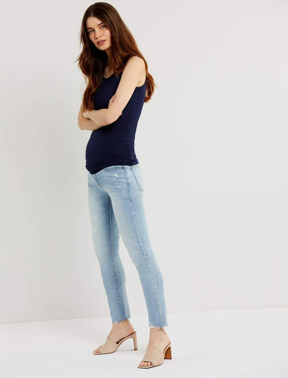 """<p>""""I'm currently expecting my first baby and I'm obsessed with everything available at A Pea in the Pod. These <span>Frame Le Skinny Crop Maternity Jeans</span> ($209) come with a the brand's """"Secret Fit Belly"""" that is perfect for expecting mamas who still want to dress up. I'm going to have to get a few more of these!"""" - Nikita Charuza, editor, Fashion</p>"""