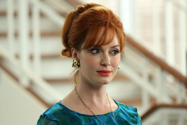 "Joan Harris (Christina Hendricks) in the ""Mad Men"" episode, ""To Have and to Hold."""