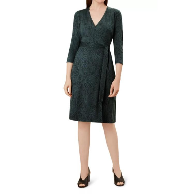 Delilah Snake Print Wrap Dress. (Photo: Bloomingdale's)