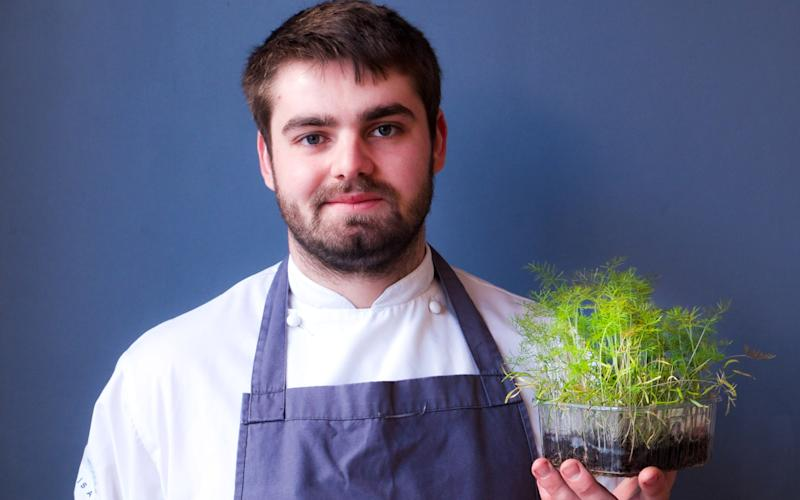 Isaac Bartlett-Copeland, the 24-year-old owner of the Brighton-based Isaac At restaurant - Isaac At