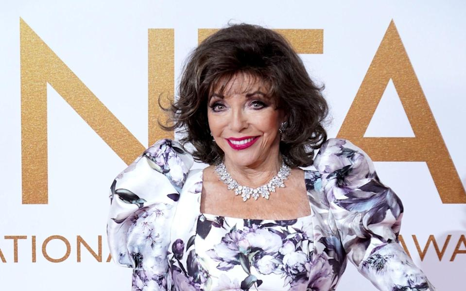 Dame Joan Collins attends the National Television Awards at London's 02 Arena on 9 September 2021 - Ian West/PA