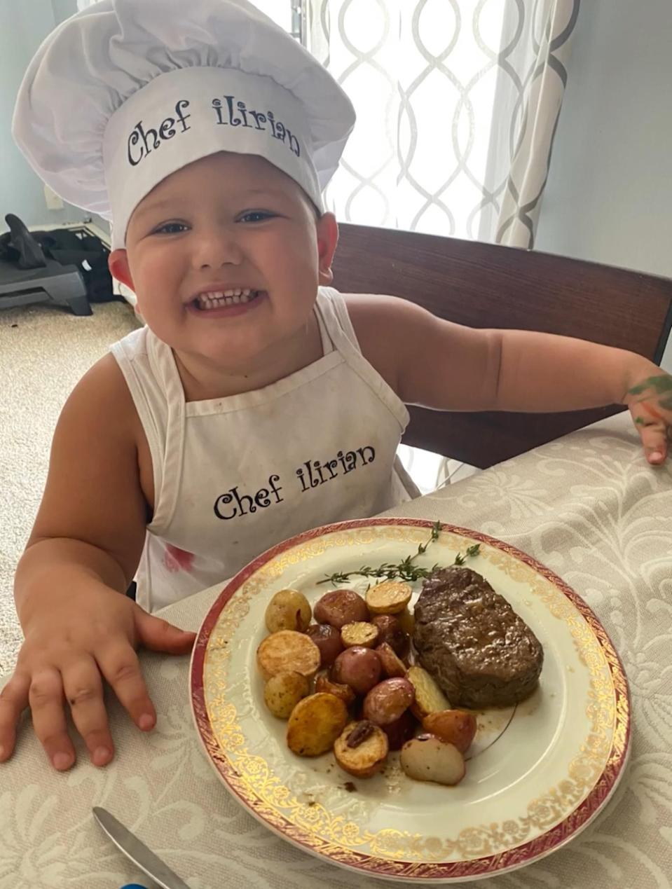 Chef Ilirian's favorite dish is filet mignon with a side of roasted potatoes. (Dorentina Kameraj)