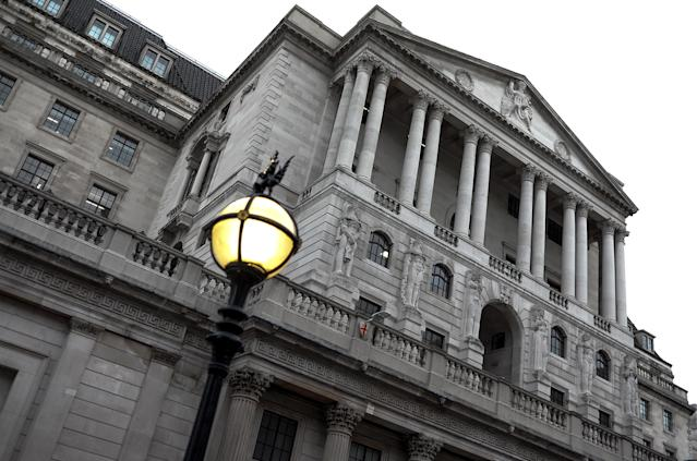 The Bank of England in Central London on October 25, 2019. Photo: Alberto Pezzali/NurPhoto via Getty Images