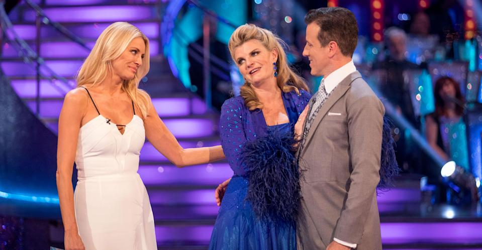 Ousted Strictly contestant Susannah Constantine denies throwing a backstage tantrum. (BBC Pictures)