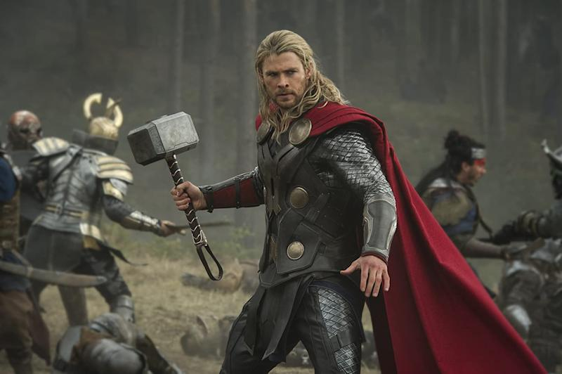 Chris Hemsworth in action in Thor: The Dark World, which Kenneth Branagh didn't direct (Image by Marvel Studios)