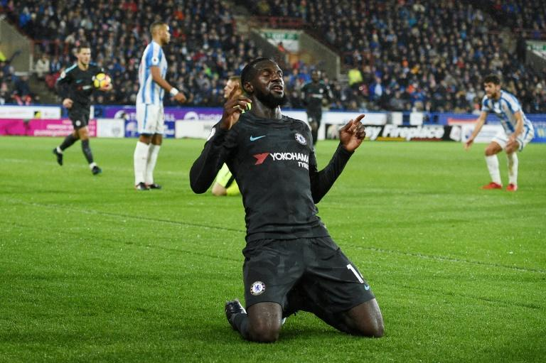 Chelsea's Tiemoue Bakayoko atoned for a poor performance at West Ham by scoring the opening goal in a 3-1 win over Huddersfield