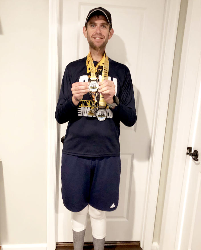 Matthew Morgan loves to run. It's become one of his favorite hobbies and helps him maintain his 155-pound weight loss. (Courtesy Matthew Morgan)