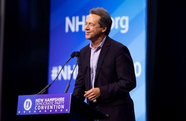 PHOTO: Democratic presidential candidate and Montana Governor Steve Bullock speaks during the New Hampshire Democratic Party Convention, Sept. 7, 2019 in Manchester, N.H. (Scott Eisen/Getty Images)