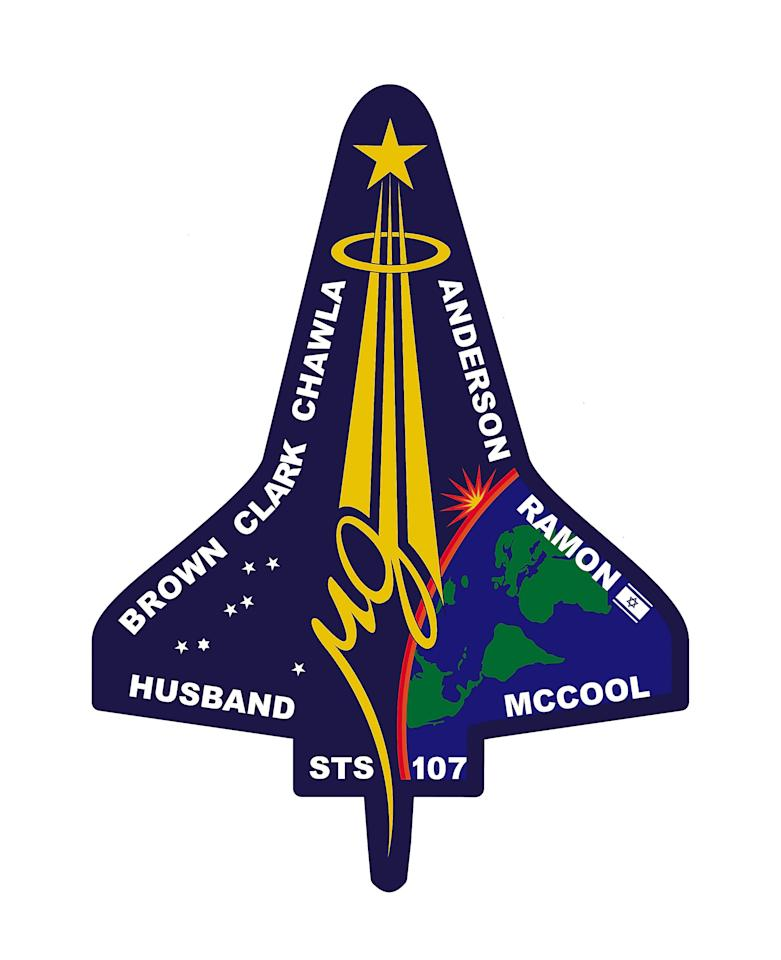 UNDATED: This photo shows the logo of space shuttle Columbia, mission STS-107.  Columbia broke up upon re-entry to earth February 1, 2003.  (Photo by NASA/Getty Images)