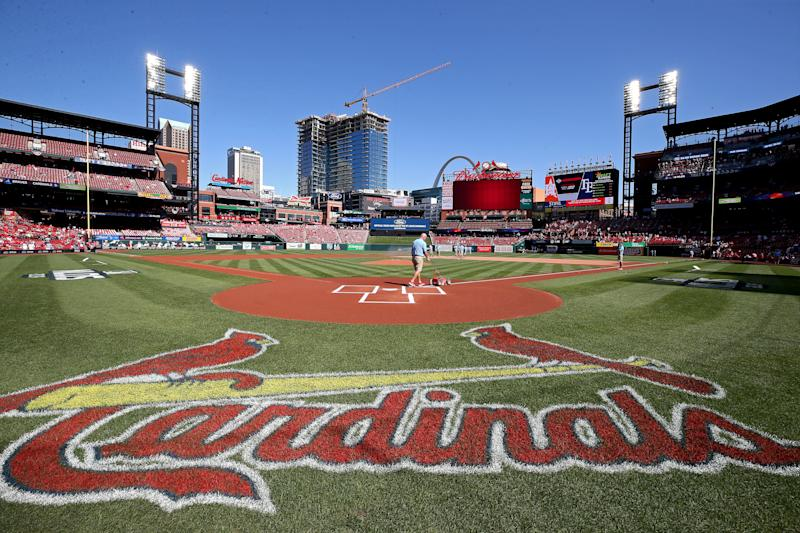 The St. Louis Cardinals have been limited to five games this season. Here are some bizarre stats stemming from their absence. (Photo by Jamie Squire/Getty Images)