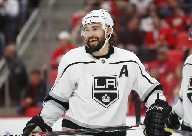 "<a class=""link rapid-noclick-resp"" href=""/nhl/teams/los/"" data-ylk=""slk:Los Angeles Kings"">Los Angeles Kings</a> defenseman Drew Doughty will be a game-changing free agent if he hits the market in 2019. (AP Photo/Paul Sancya)"