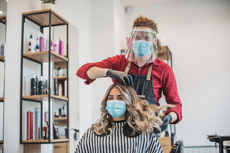 This is what salons could look like when they reopen tomorrow. (Getty Images)