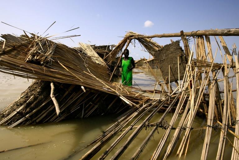 """The downpours """"have exacerbated the vulnerability of communities, with many people displaced by the floods seeking refuge in churches and schools,"""" said the United Nations Office for the Coordination of Humanitarian Affairs (AFP/ASHRAF SHAZLY)"""