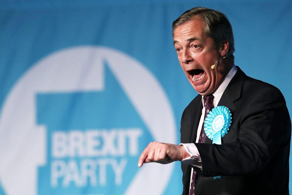 Brexit Party leader Nigel Farage has told his supporters PM's Brexit deal is a