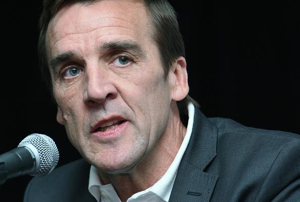 George McPhee speaks after being introduced as the general manager of the Las Vegas NHL franchise during a news conference at T-Mobile Arena on July 13, 2016 in Las Vegas, Nevada. (Getty Images)