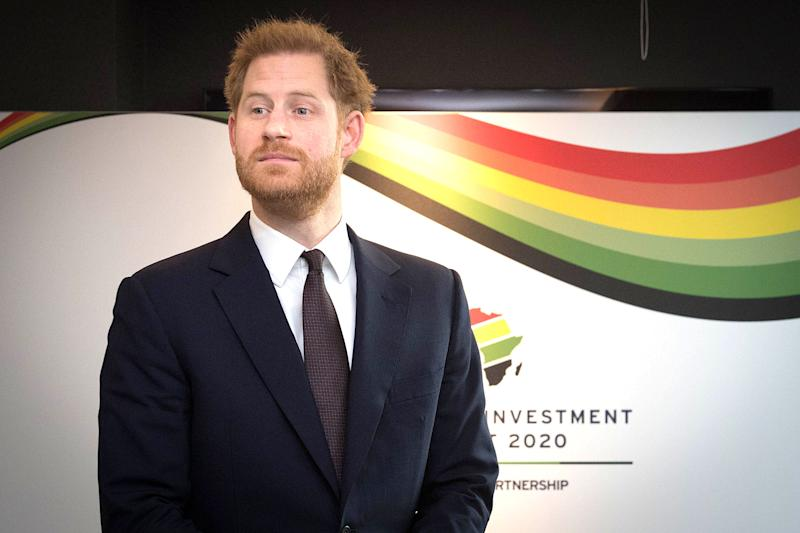The Duke of Sussex attends the UK-Africa Investment Summit at the Intercontinental Hotel London.