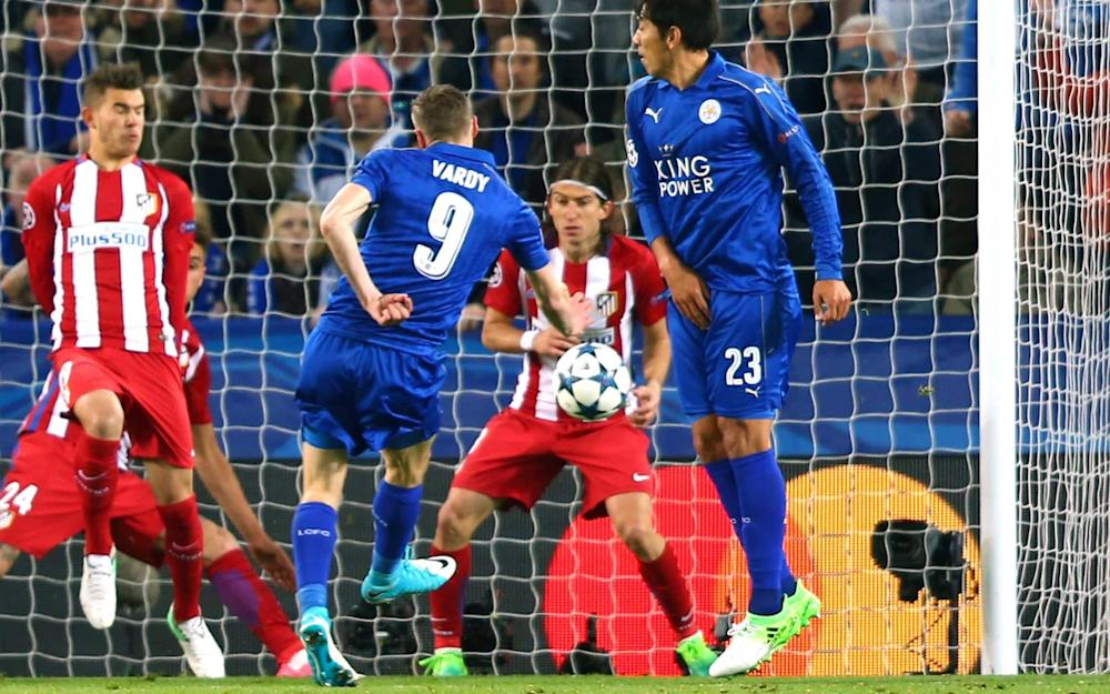 Vardy grabbed Leicester's equaliser on the night