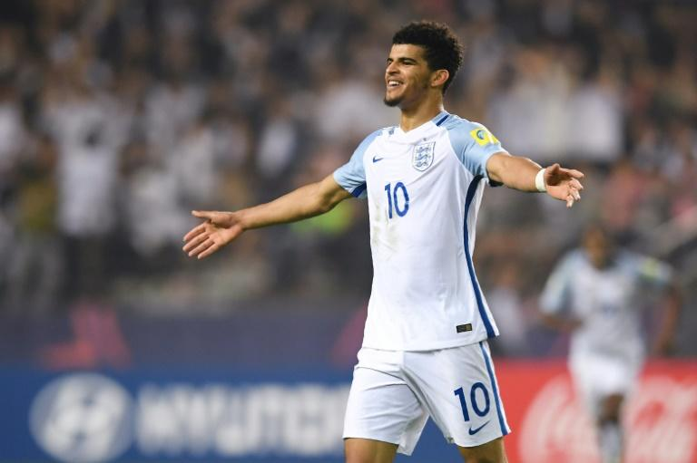 Dominic Solanke in action for England during the under-20 World Cup in South Korea in June 2017