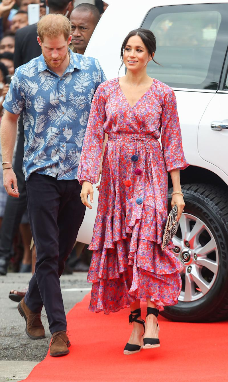 The royal couple visit the University of the South Pacific on Oct. 24 in Suva, Fiji.