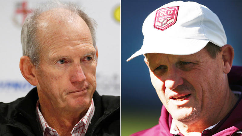 Wayne Bennett (pictured left) and Kevin Walters (pictured right). (Getty Images)