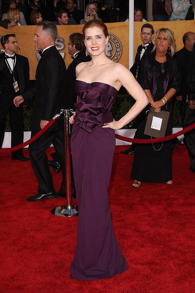"""BEST: <a href=""""http://movies.yahoo.com/movie/contributor/1800018895"""">Amy Adams</a> at the 15th Annual Screen Actors Guild Awards in Los Angeles - 01/25/2009"""
