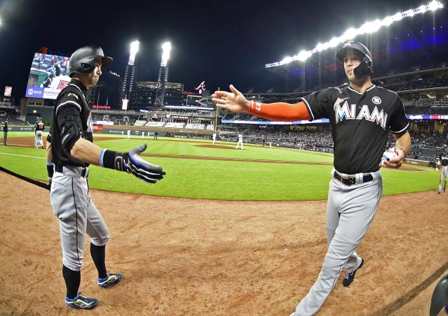 Otani to the Marlins? Stranger things have happened. (Photo by Scott Cunningham/Getty Images)