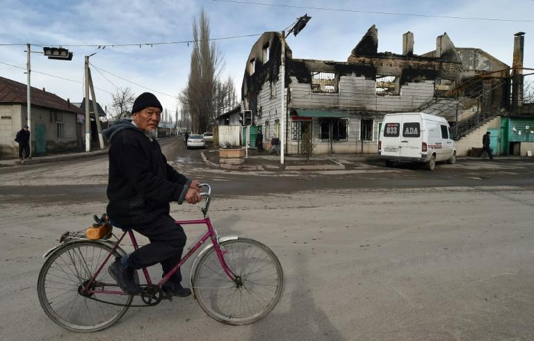The attack on the village earlier this month left many buildings in ruins