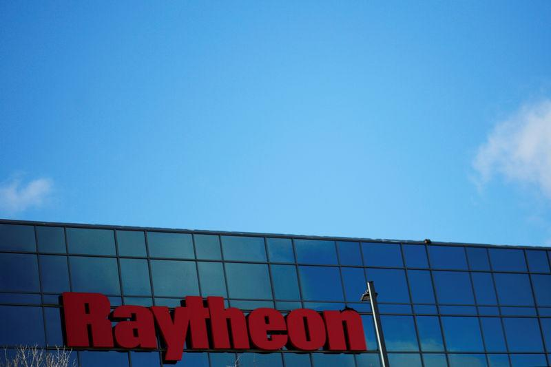 A sign marks the Raytheon offices in Woburn, Massachusetts, U.S. January 25, 2017. REUTERS/Brian Snyder/File Photo