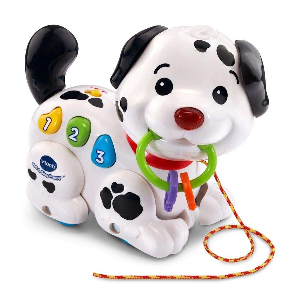 <p>This <span>VTech Pull and Sing Puppy</span> ($13) is adorable.</p>