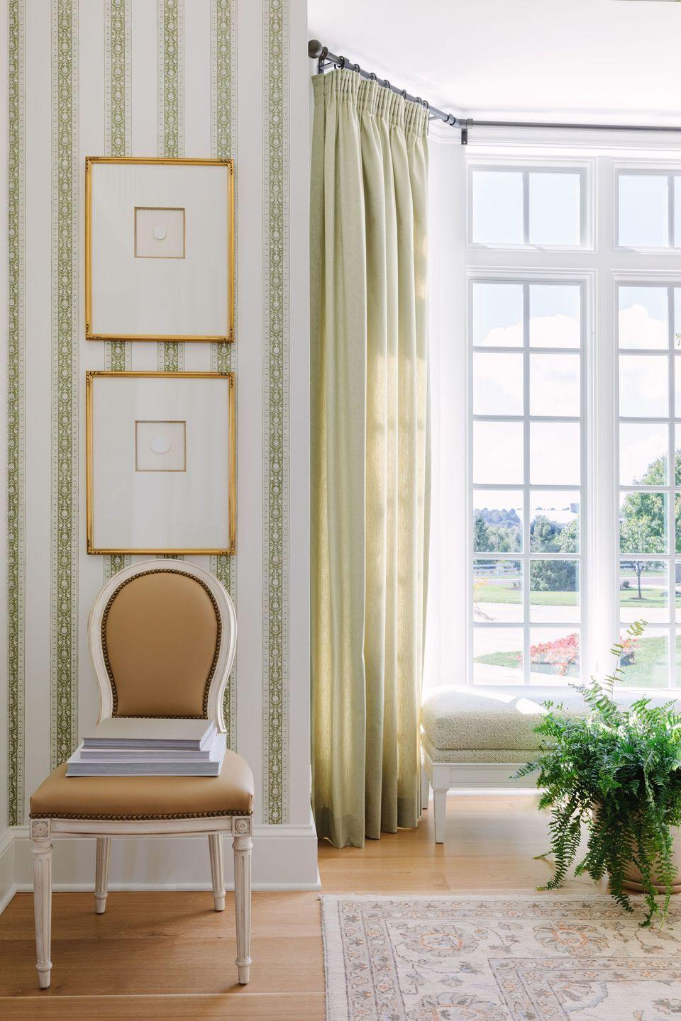 """<p>Nothing says spring quite like an airy green. """"Green is such a versatile shade and can take on so many different tones, but for spring we're loving a soft, muted sage green,"""" says Hammel. """"It feels so fresh, organic, and can be used in both masculine and feminine spaces."""" </p>"""