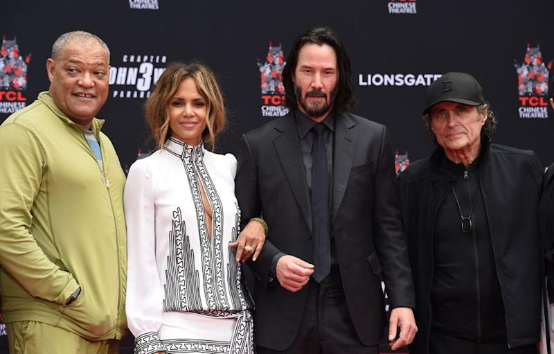 Laurence Fishburne, Halle Berry, Keanu Reeves and Ian McShane | Stewart Cook/REX/Shutterstock