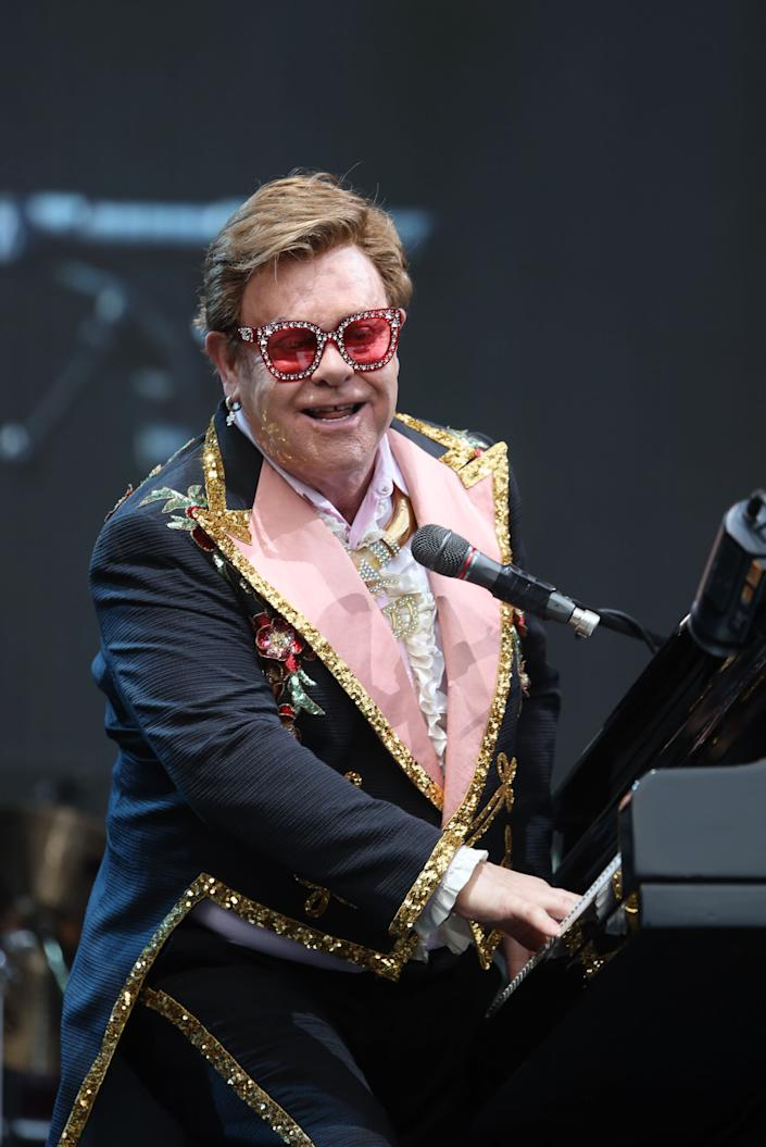 Elton John performs at Mt Smart Stadium on February 16, 2020 in Auckland, New Zealand.  (Photo: Dave Simpson via Getty Images)