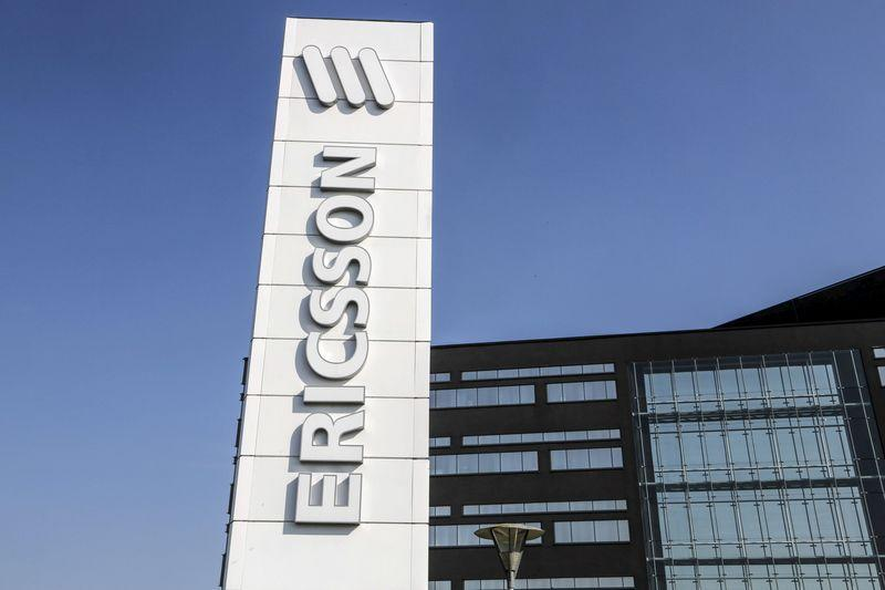 File photo of an office of Swedish telecom giant Ericsson in Lund