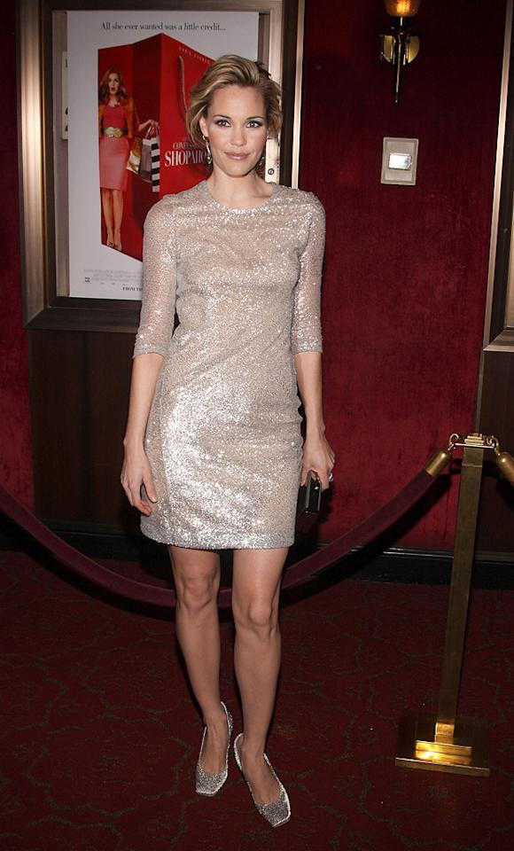 "<a href=""http://movies.yahoo.com/movie/contributor/1800355599"">Leslie Bibb</a> at the New York premiere of <a href=""http://movies.yahoo.com/movie/1809973783/info"">Confessions of a Shopaholic</a> - 02/05/2009"