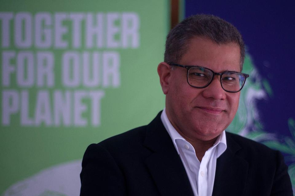 <p>Sharma will lead Cop26 in November</p> (AFP/Getty)
