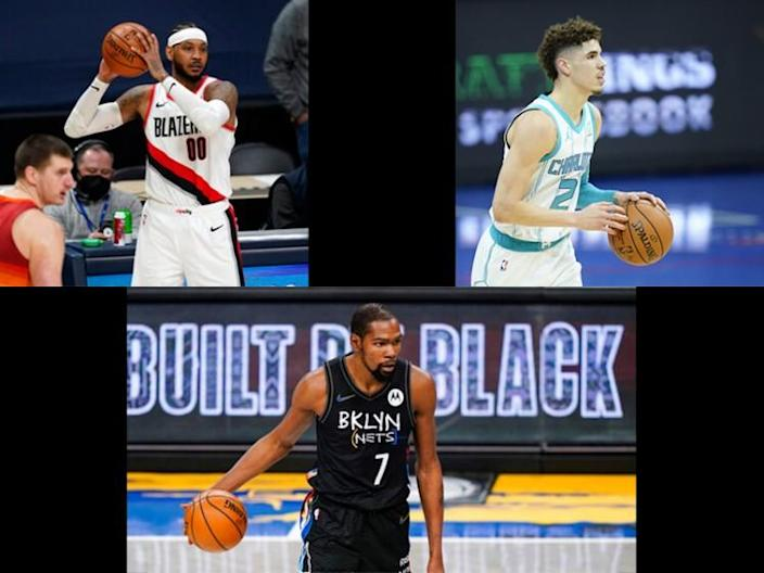 Carmelo Anthony, LaMelo Ball and Kevin Durant all have nickname conflicts.