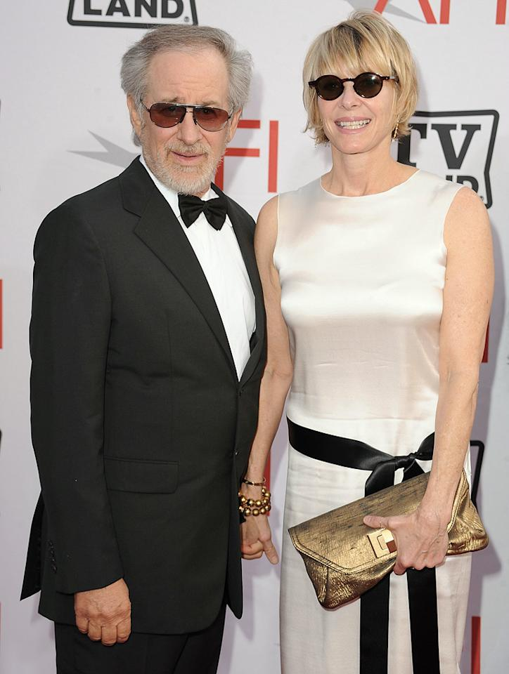 "<a href=""http://movies.yahoo.com/movie/contributor/1800010823"">Steven Spielberg</a> and <a href=""http://movies.yahoo.com/movie/contributor/1800019591"">Kate Capshaw</a> attend the 38th Annual Lifetime Achievement Award Honoring Mike Nichols at Sony Pictures Studios on June 10, 2010 in Culver City, California."
