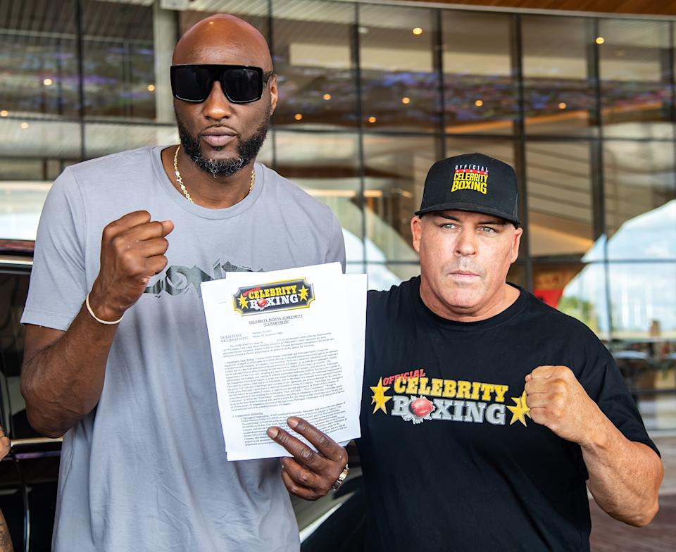 Lamar Odom is looking for another boxing win.