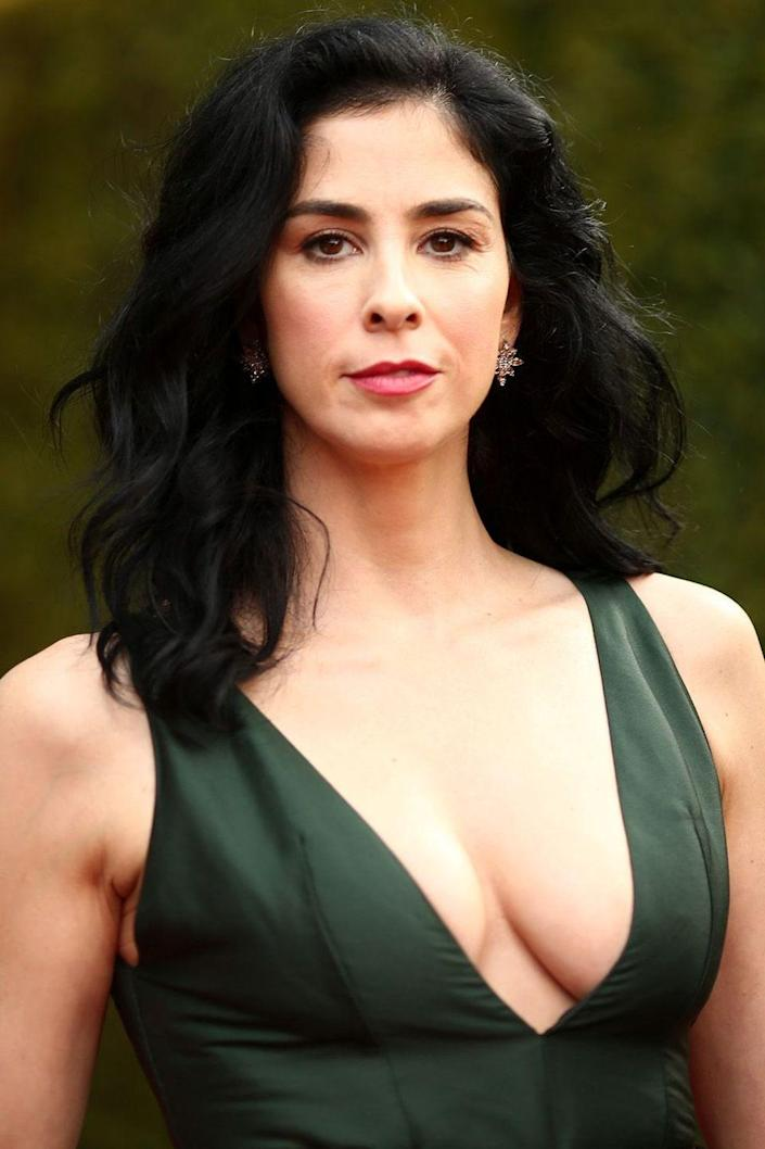 """<p>The comedian and actress expressed her dislike for alcohol in an <a href=""""http://www.dailymail.co.uk/tvshowbiz/article-2734355/Sarah-Silverman-reveals-liquid-vaporiser-dashing-barefoot-collect-Emmy-gushing-My-Mr-Fancypants-Sheen.html"""" rel=""""nofollow noopener"""" target=""""_blank"""" data-ylk=""""slk:red carpet interview"""" class=""""link rapid-noclick-resp"""">red carpet interview</a> at the 2014 Emmy's where she tells E!'s Giuliana Rancic, """"I don't drink because it gives me a stomach ache,"""" and further explaining """"I try all the time, it looks good and I feel like I would have fun being drunk, but I have a Jewish stomach.""""</p>"""