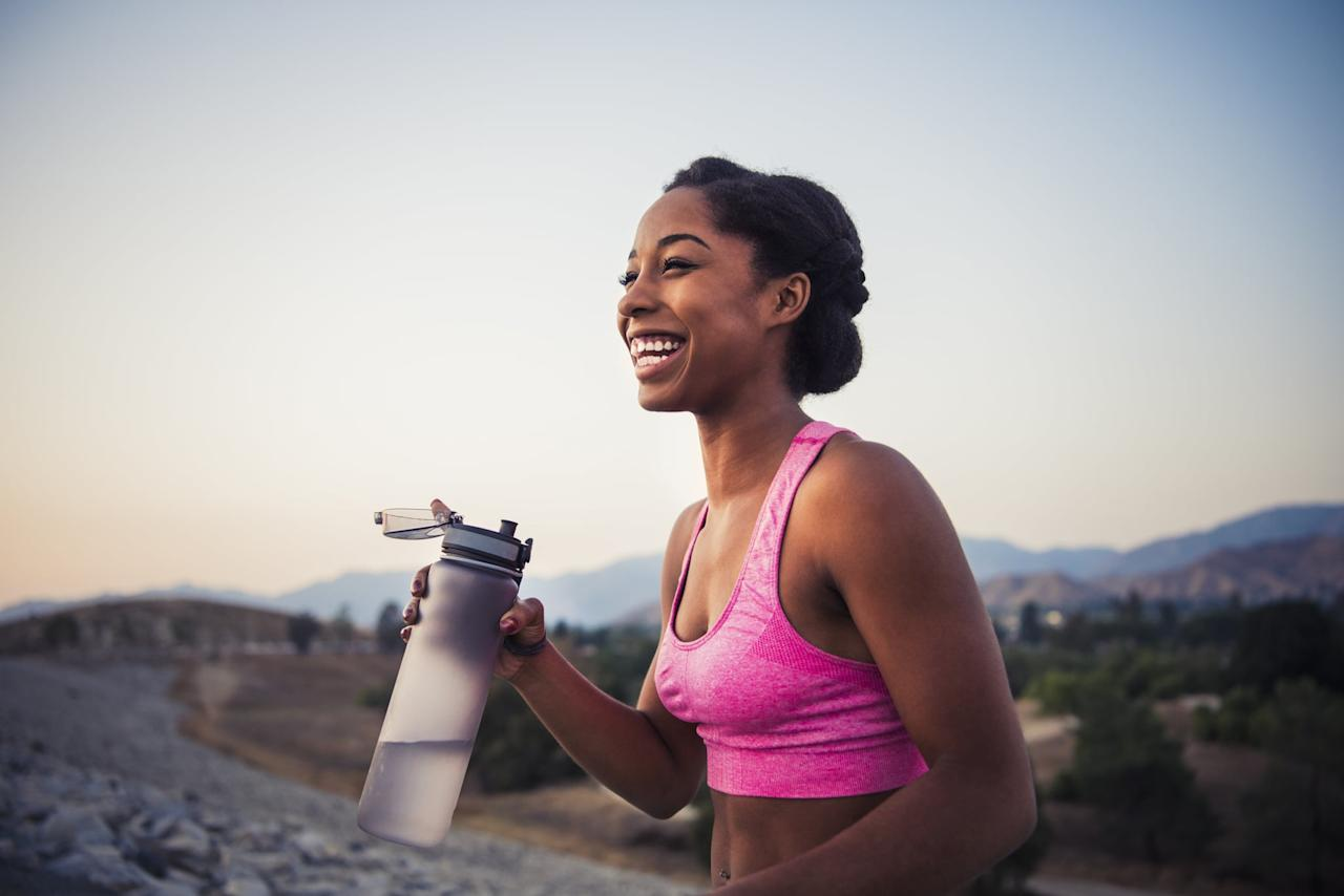 <p>Staying hydrated is a key factor in staying awake. Try putting ice in your water bottle; the cold water will keep you lively and alert.</p>