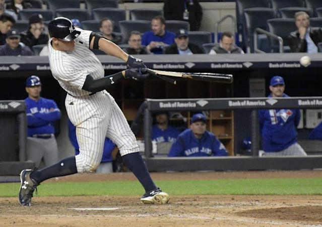 Aaron Judge has been a standout on offense for New York. (AP Photo)