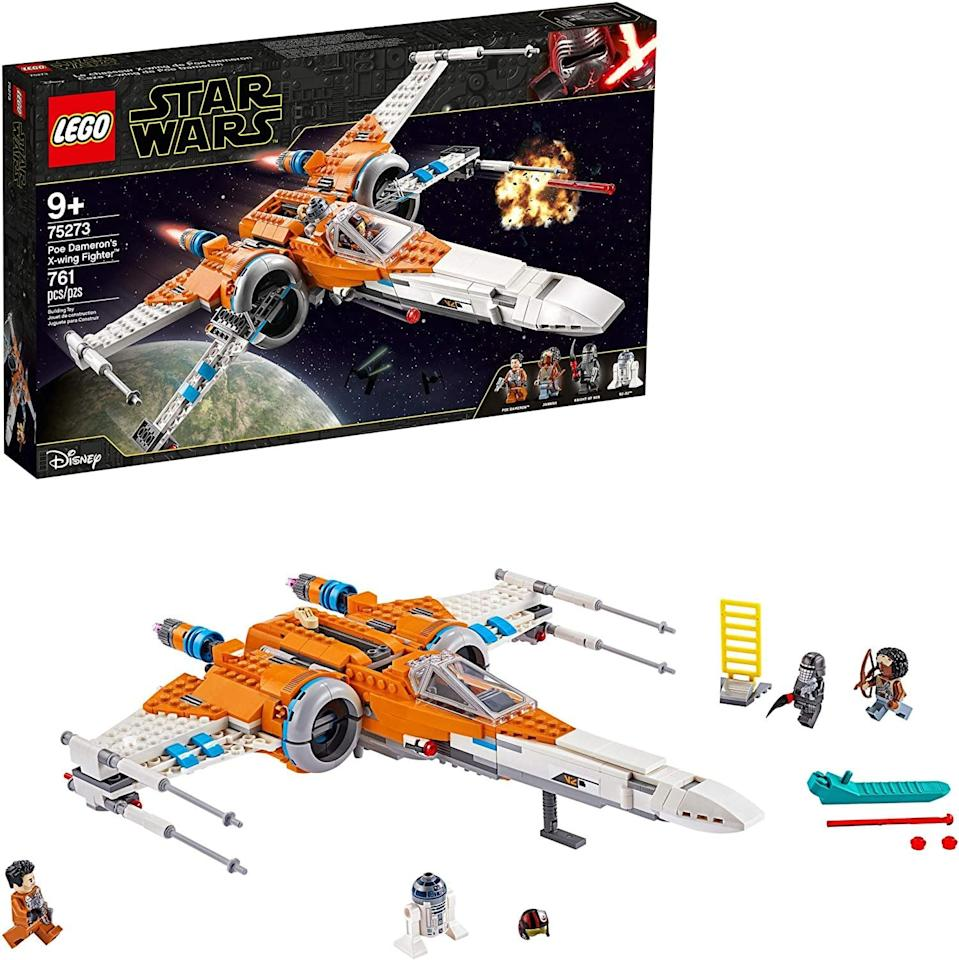 "<p><a href=""https://www.popsugar.com/buy/Lego-Star-Wars-Poe-Dameron-X-Wing-Fighter-572089?p_name=Lego%20Star%20Wars%20Poe%20Dameron%27s%20X-Wing%20Fighter&retailer=walmart.com&pid=572089&price=140&evar1=moms%3Aus&evar9=47244751&evar98=https%3A%2F%2Fwww.popsugar.com%2Ffamily%2Fphoto-gallery%2F47244751%2Fimage%2F47244764%2FLego-Star-Wars-Poe-Dameron-X-Wing-Fighter&list1=toys%2Clego%2Ctoy%20fair%2Ckid%20shopping%2Ckids%20toys&prop13=api&pdata=1"" class=""link rapid-noclick-resp"" rel=""nofollow noopener"" target=""_blank"" data-ylk=""slk:Lego Star Wars Poe Dameron's X-Wing Fighter"">Lego Star Wars Poe Dameron's X-Wing Fighter</a> ($140) has 761 pieces and is best suited to kids ages 9 and up.</p>"